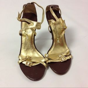 Baby Phat Sandal Heel Strappy Open Toe Embellished